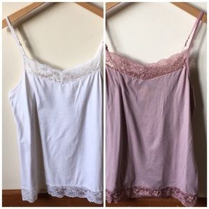 TWO Apt 9 lace Essential camisole size large